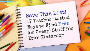 free stuff for classrooms